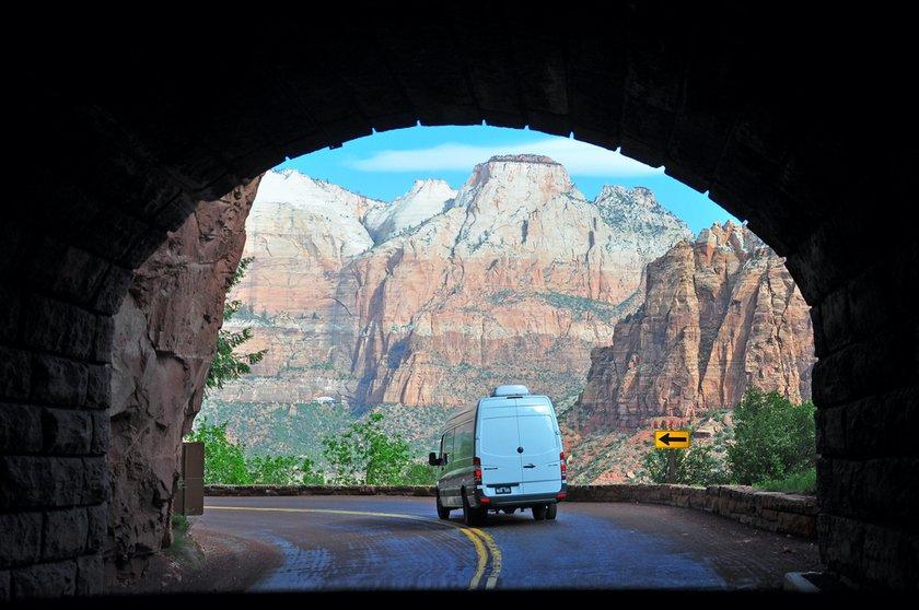 Zion Mount Carmel Highway tunnel