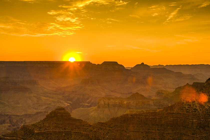 Best spot to watch sunset at Grand Canyon